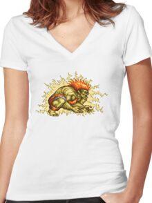 Blanka Women's Fitted V-Neck T-Shirt