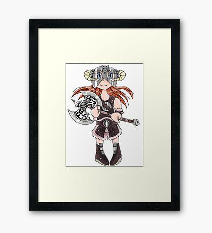 Dovahkiin(Girl) Framed Print