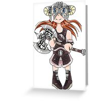 Dovahkiin(Girl) Greeting Card