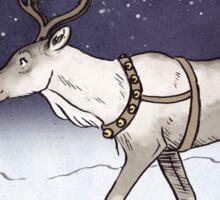 Reindeer Night Sticker
