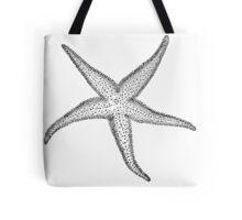 Black and White Starfish Tote Bag