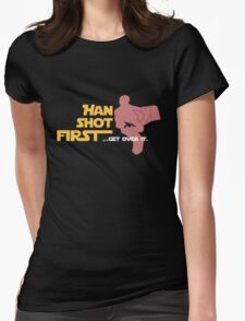 Movies - Han shot first - dark Womens Fitted T-Shirt