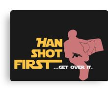 Movies - Han shot first - dark Canvas Print