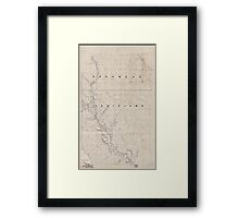 Civil War Maps 2120 Map of the Red River campaign March 10-May 22 1864 Framed Print