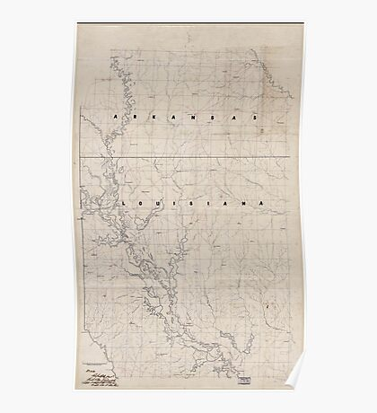 Civil War Maps 2120 Map of the Red River campaign March 10-May 22 1864 Poster
