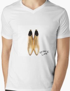 "Harry's Boots & writing- ""All The Love"" Mens V-Neck T-Shirt"