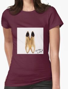 "Harry's Boots & writing- ""All The Love"" Womens Fitted T-Shirt"