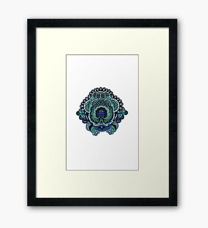Coloured Doodle Framed Print
