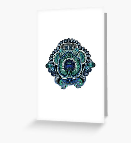 Coloured Doodle Greeting Card
