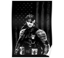 METAL GEAR SOLID SHIRT - SOLID SNAKE Poster