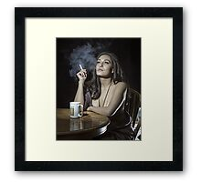 Late coffee Framed Print