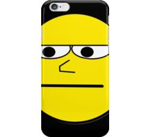 Unimpressed and Disapproving Smiley - Funny Nerd Geek Meme iPhone Case/Skin