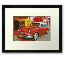 Red Studebaker Framed Print