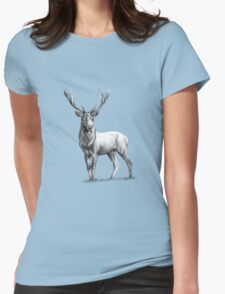 Red Deer Womens Fitted T-Shirt
