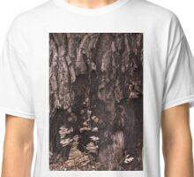 Burr Oak Bark with Mushrooms Classic T-Shirt