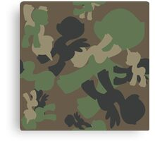 Brony Military Woodland Camo Canvas Print