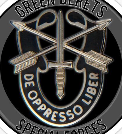 Special Forces Green Berets Sticker