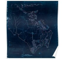 Civil War Maps 0361 Extract from Fort Monroe Norfolk Suffolk and Yorktown with their connections and surroundings for military purposes Inverted Poster