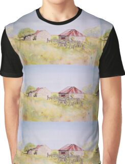 Old Ruins Near Bordertown Watercolour Painting  Graphic T-Shirt