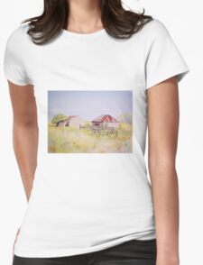 Old Ruins Near Bordertown Watercolour Painting  Womens Fitted T-Shirt