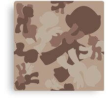 Brony Military Desert Camo Canvas Print