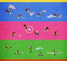 Smash Bros Melee Character Poster FOUR by chrispocetti