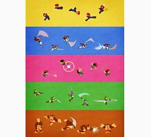 Smash Bros Melee Character Poster FOUR T-Shirt