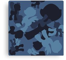 Brony Military Navy Camo Canvas Print