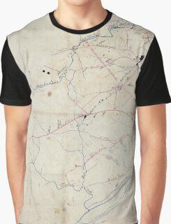 Civil War Maps 1524 Richmond vicinity Graphic T-Shirt