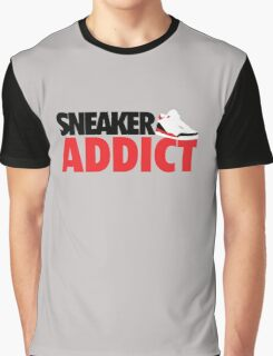 Sneaker Addict J3 Fire Red Graphic T-Shirt