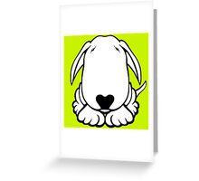 Dobby Ears Bull Terrier  Greeting Card