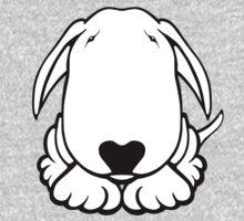 Dobby Ears Bull Terrier  One Piece - Short Sleeve