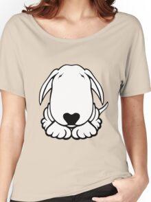 Dobby Ears Bull Terrier  Women's Relaxed Fit T-Shirt