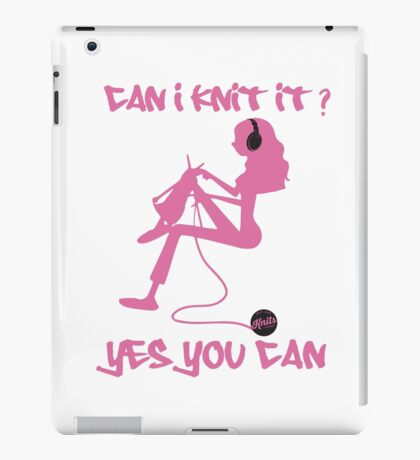Can I Knit It? iPad Case/Skin