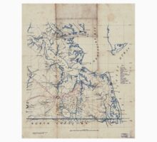 Civil War Maps 2251 Southeastern part of Virginia from York River and west to Black Water River Kids Tee