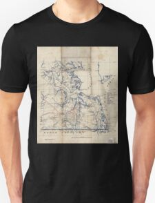 Civil War Maps 2251 Southeastern part of Virginia from York River and west to Black Water River Unisex T-Shirt