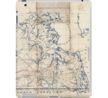Civil War Maps 2251 Southeastern part of Virginia from York River and west to Black Water River iPad Case/Skin