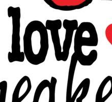 I Love Sneakers J11 Breds Sticker