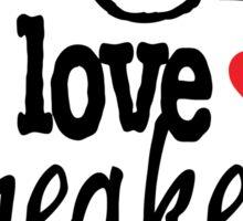 I Love Sneakers J11 Concords Sticker