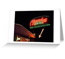 Posados Cafe Neon Sign Greeting Card