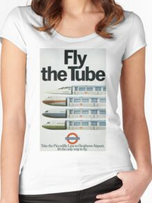 Vintage poster - London Underground Women's Fitted Scoop T-Shirt