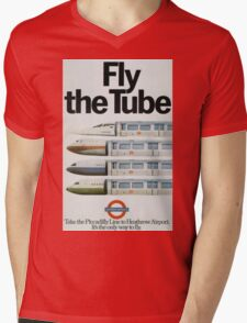 Vintage poster - London Underground Mens V-Neck T-Shirt