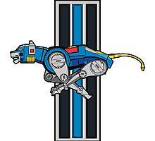 Voltron Blue Lion Running Logo by samohtlion