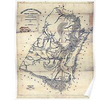 Civil War Maps 0436 Georgetown District South Carolina Poster