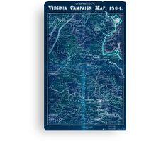 Civil War Maps 1558 Schonberg's Virginia campaign map 1864 Inverted Canvas Print