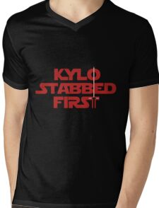 Kylo Stabbed First Mens V-Neck T-Shirt