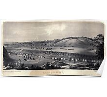 Civil War Maps 0213 Camp Dennison taken from Old Aunt Roady's Hill Poster