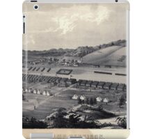Civil War Maps 0213 Camp Dennison taken from Old Aunt Roady's Hill iPad Case/Skin