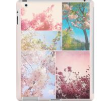 Spring Floral Sakura Collage Pink White Cherry Blossoms iPad Case/Skin