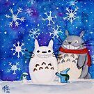 Totoro Winter Wonderland  by studioofmm
